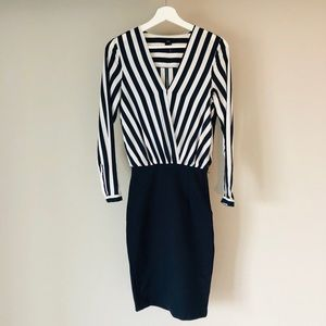 H&M blue & white dress